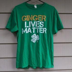 Ginger Lives Matter T Shirt Green Large